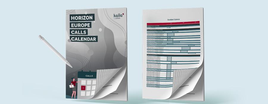 Horizon Europe calls calendar to download